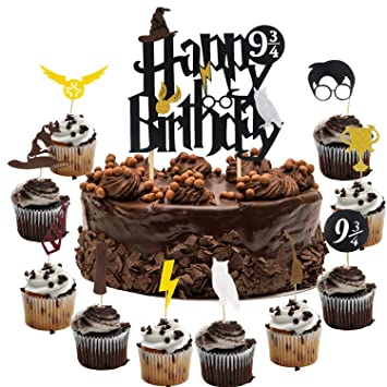 Image Unavailable Not Available For Color Harry Potter Inspired Happy Birthday Cake