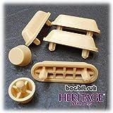 Heritage Bathrooms - Juego de almohadillas para asiento de inodoro (para asientos de madera HBP-Y), color roble amarillo