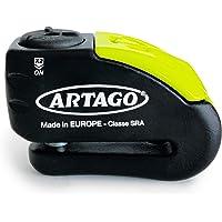 Artago 30X10 Candado Antirrobo Disco con Alarma Don't Touch 120 dB Alta Gama, Homologado Sra, Bunker Selection, Negro…