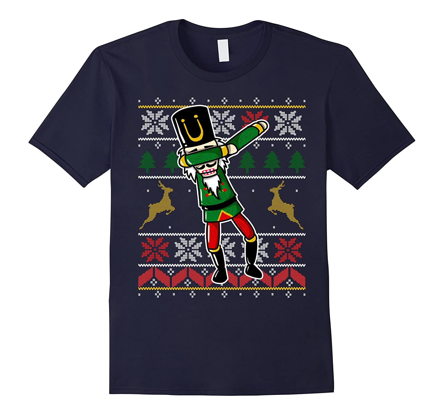 Cute Dabbing Nutcracker Christmas Gift T-Shirt Ugly Sweater-FL