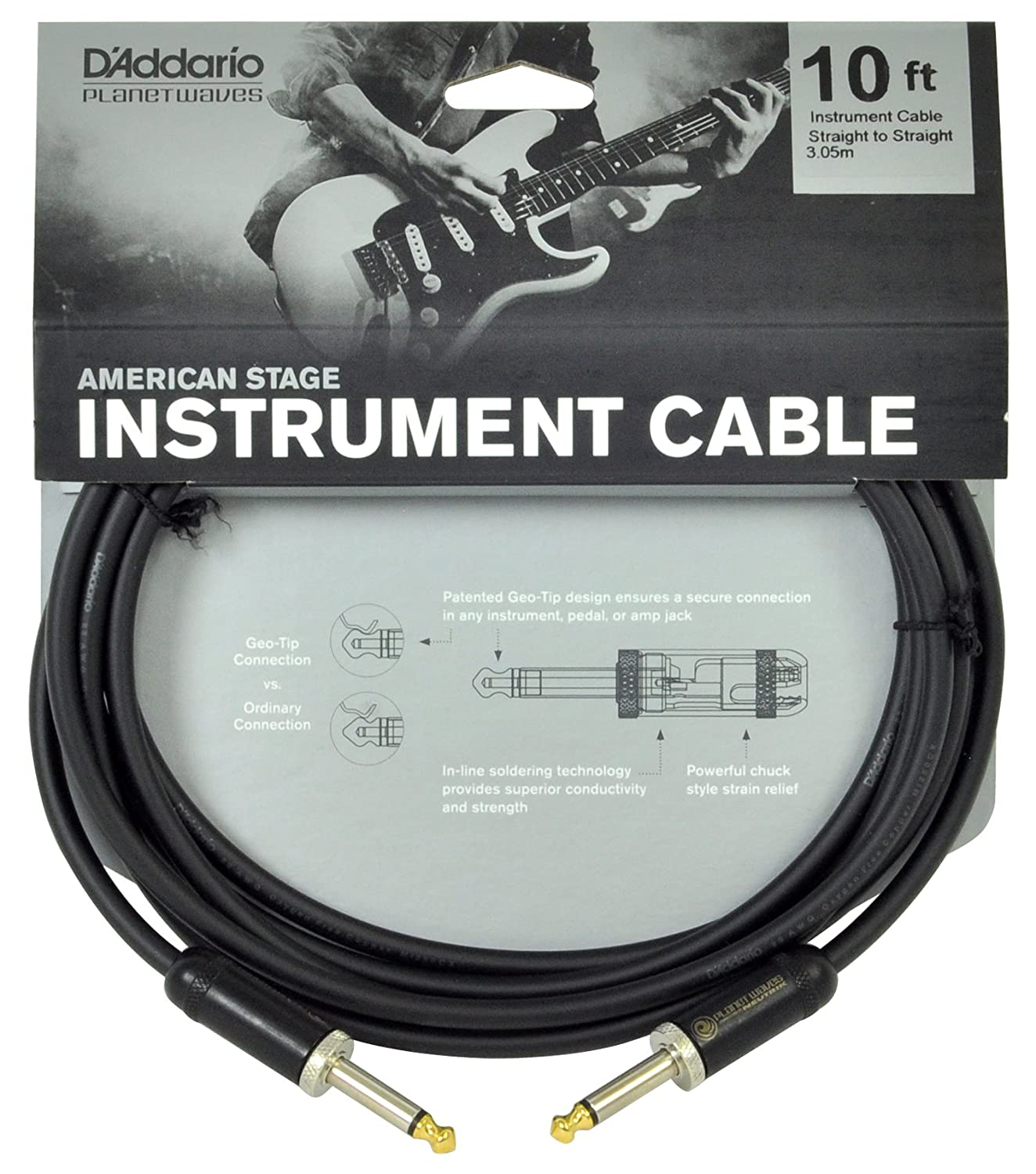 Amazon.com: Planet Waves American Stage Guitar and Instrument Cable ...