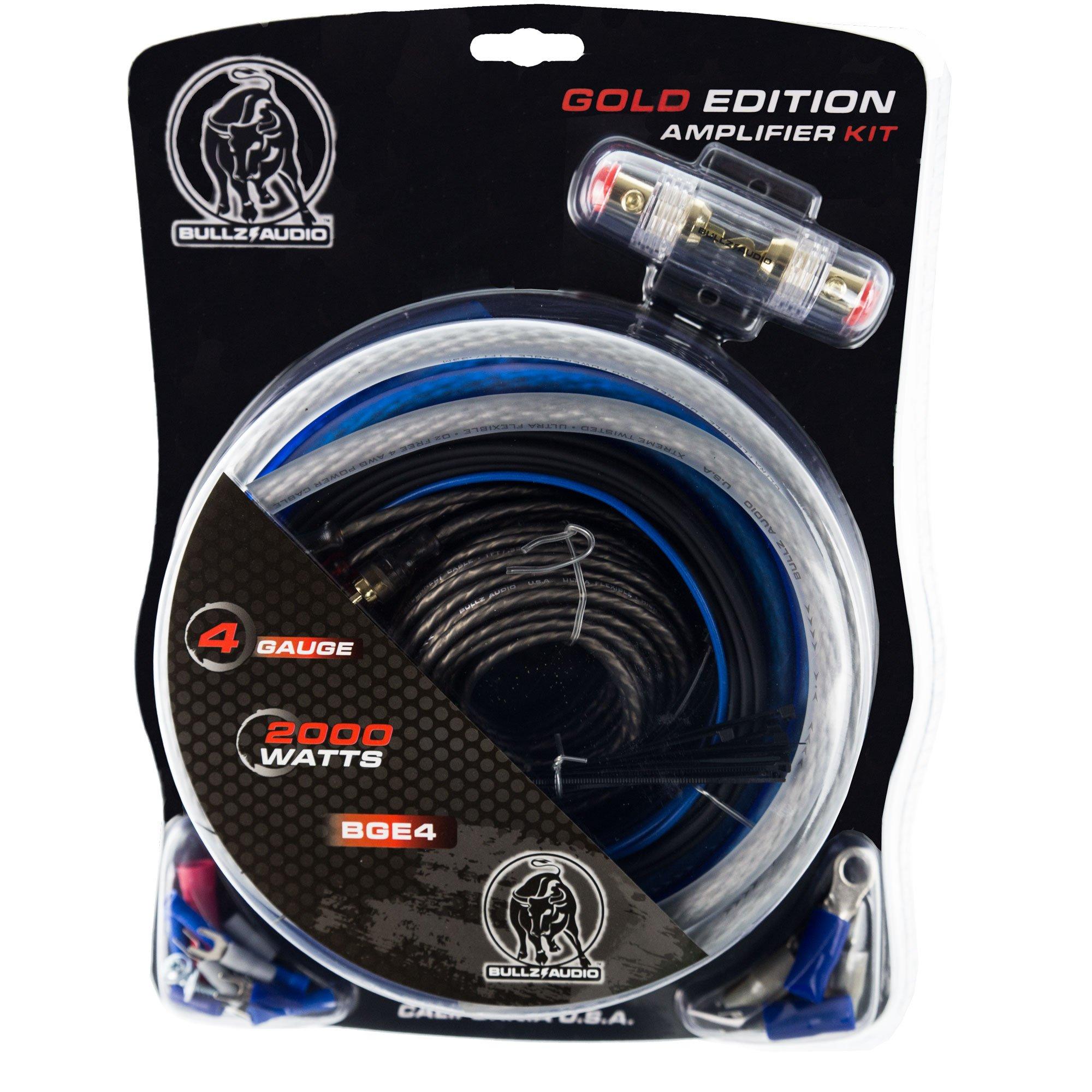 Bullz Audio 4-Gauge Amplifier Installation Power Wiring Kit