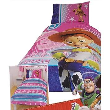 Ensemble De Literie Reversible Toy Story Jessie Pour Enfant Filles