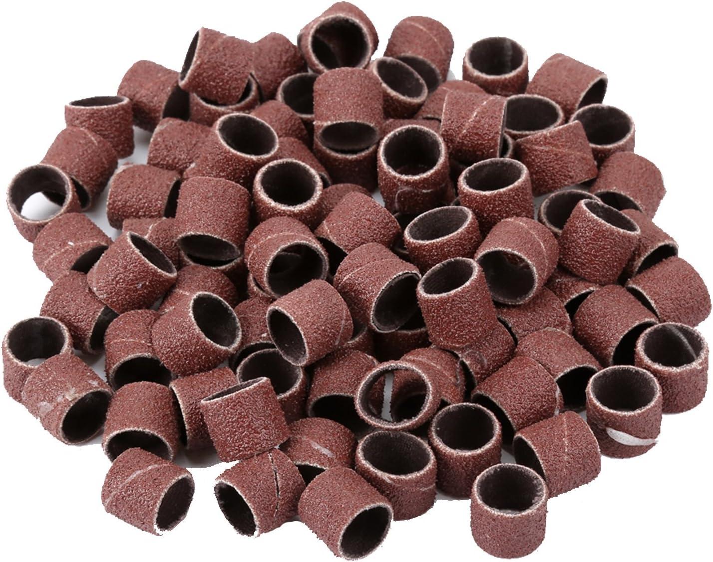 "1//2/"" Sanding Bands W// 2X 80#Sanding Drum Mandrel For Power Rotary Tools 100PCS"