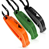 Fail Safe Emergency Whistle With Lanyard – Easy To Use For Signaling Attention – Essential Survival & Personal Safety Gear for Family Vacations, Camping Trips & More – 3 Pack in Multiple Colors