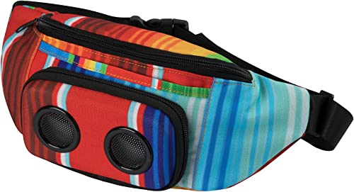 The 1 Fannypack with Speakers. Bluetooth Fanny Pack for Parties Festivals Raves Beach Boats. Rechargeable, Works with iPhone Android. 1 Bachelorette Party Gift Rainbow, 2019 Edition