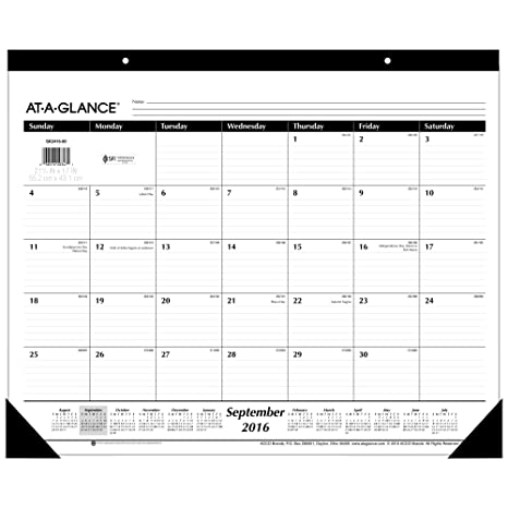 amazon com at a glance academic year monthly desk pad calendar