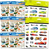 Hot Wheels Stickers and Tattoos Party Favors Pack (120 Stickers & 108 Temporary Tattoos)