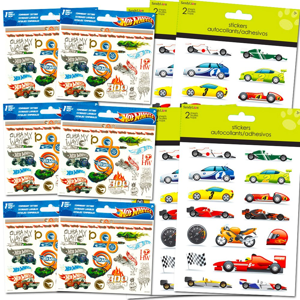 hot wheels stickers temporary tattoos