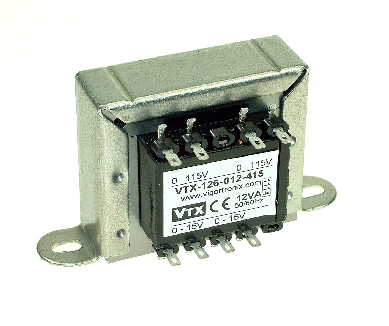 Transformateur secteur 12 VA 0-230 V 2 x 15 V