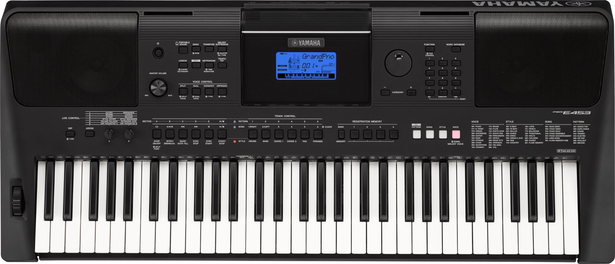 Yamaha PSR E453 61-Key Portable Keyboard product image