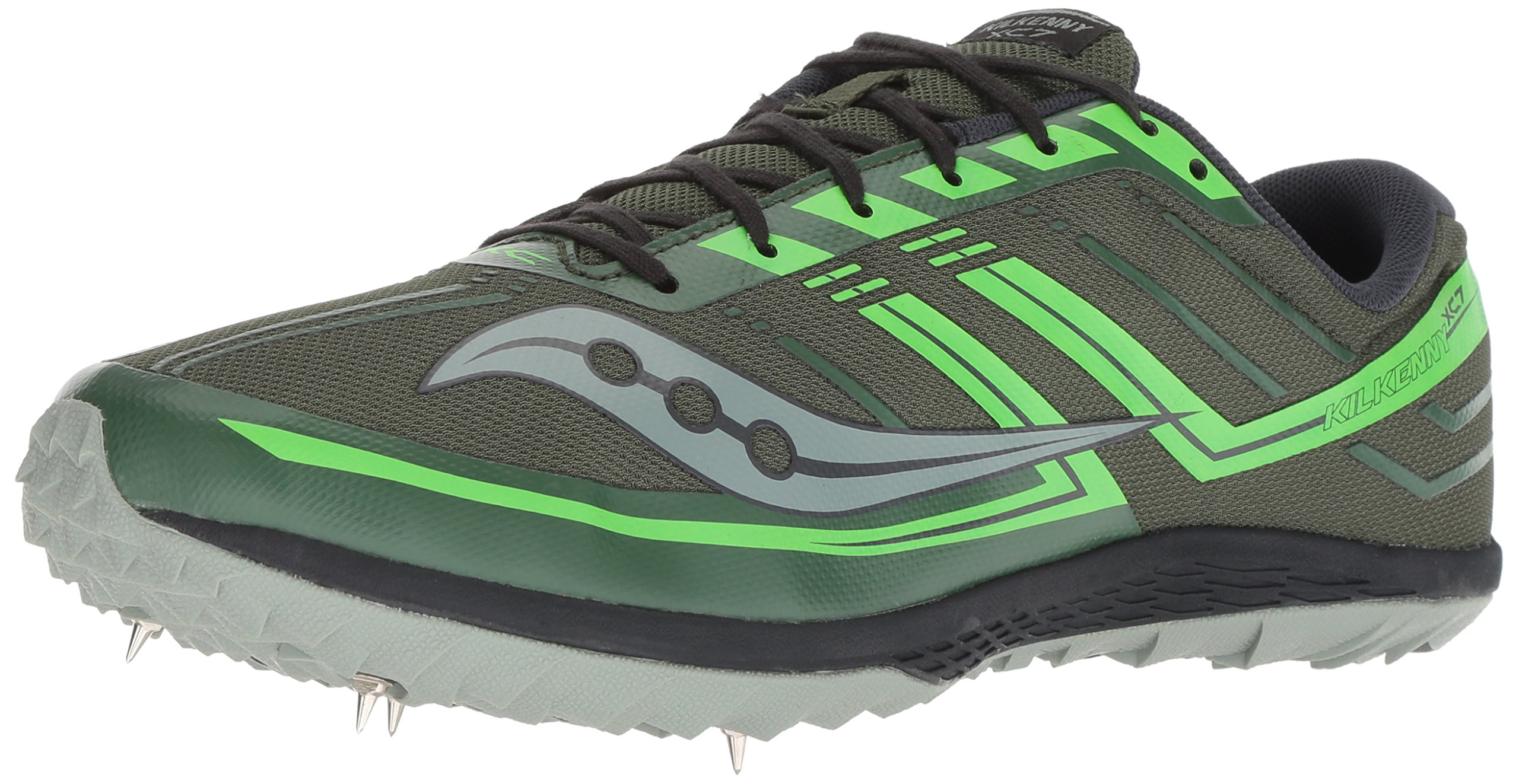Saucony Men's Kilkenny XC 7 Cross Country Running Shoe, Green/Slime, 11.5 M US