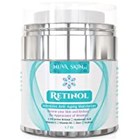 Nuva Skin Retinol Cream Moisturizer for Face and Eye Area - With Retinol, Hyaluronic...