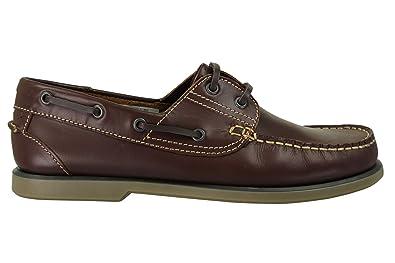 Dek , Herren Bootschuhe , blau - Navy/Brown (Lace Up) - Größe: 40