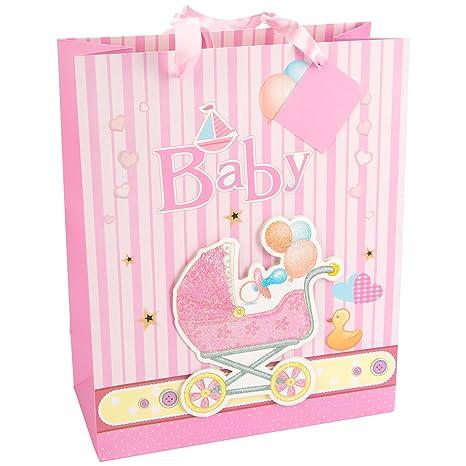 LEVIVO Baby Design 2, Pink Bolsa de Regalo 3D para bebé, diseño 2,