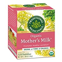 Traditional Medicinals Organic Mother's Milk Women's Tea 32ct (Pack of 3), Promotes Healthy Lactation for Breastfeeding Moms, 96 Tea Bags Total