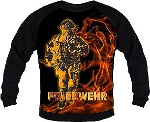 loco Feuerwehr Herren Fleece Jacke Jacket Pullover Full Zip mit Silber reflektierend-beidseitiger Folie Schriftzug L48