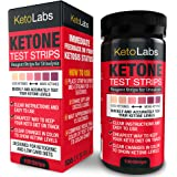 KetoLabs Ketone Test Strips | Accurately Measures Ketosis in 15 Seconds | Designed for Ketogenic and Low Carb Diets | 100 Strips