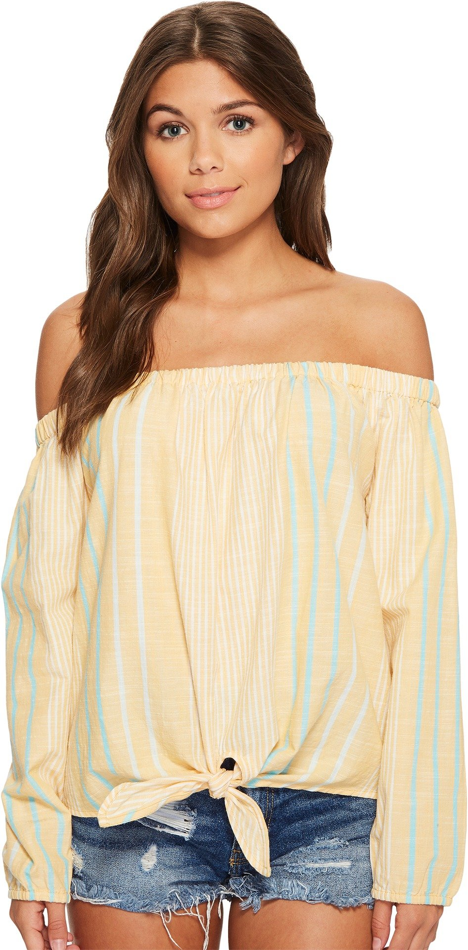 Roxy Women's Crossing Stripes Top Oak Buff Trio Stripe X-Large