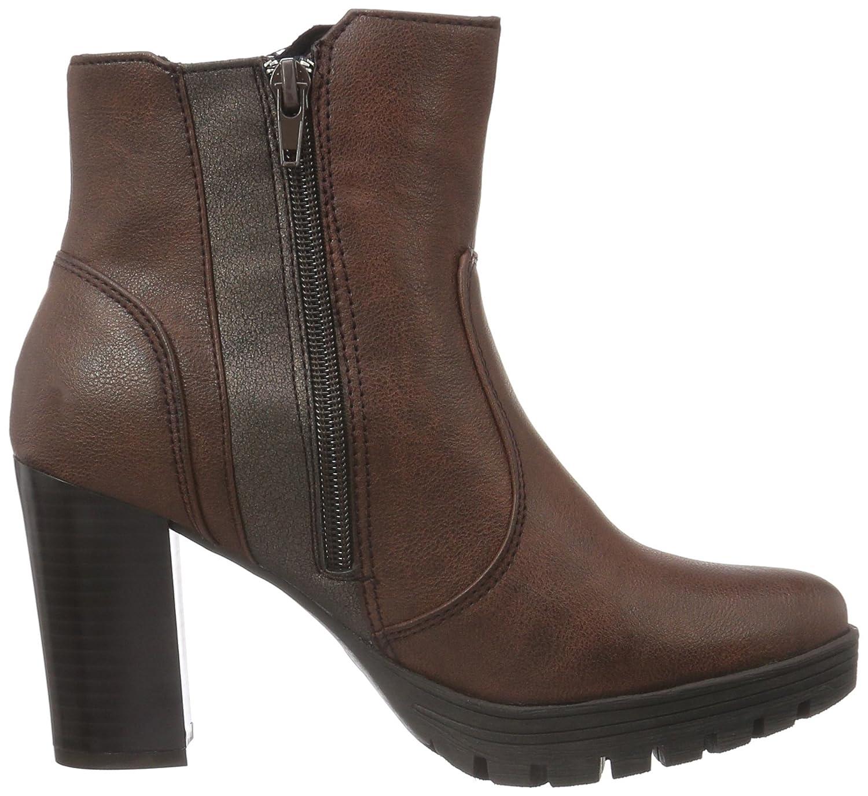 bruno banani Damen Stiefelette Combat Boots, Rot (570 Wine), 38 EU