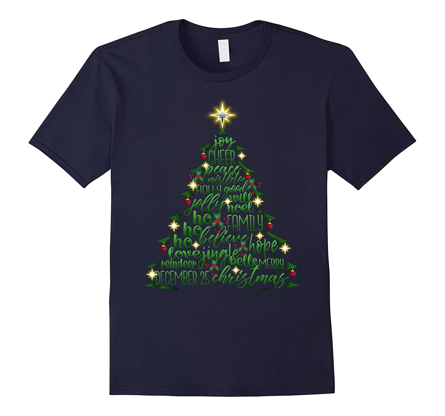 Christmas Tree Word Design Costume T-Shirt-ANZ