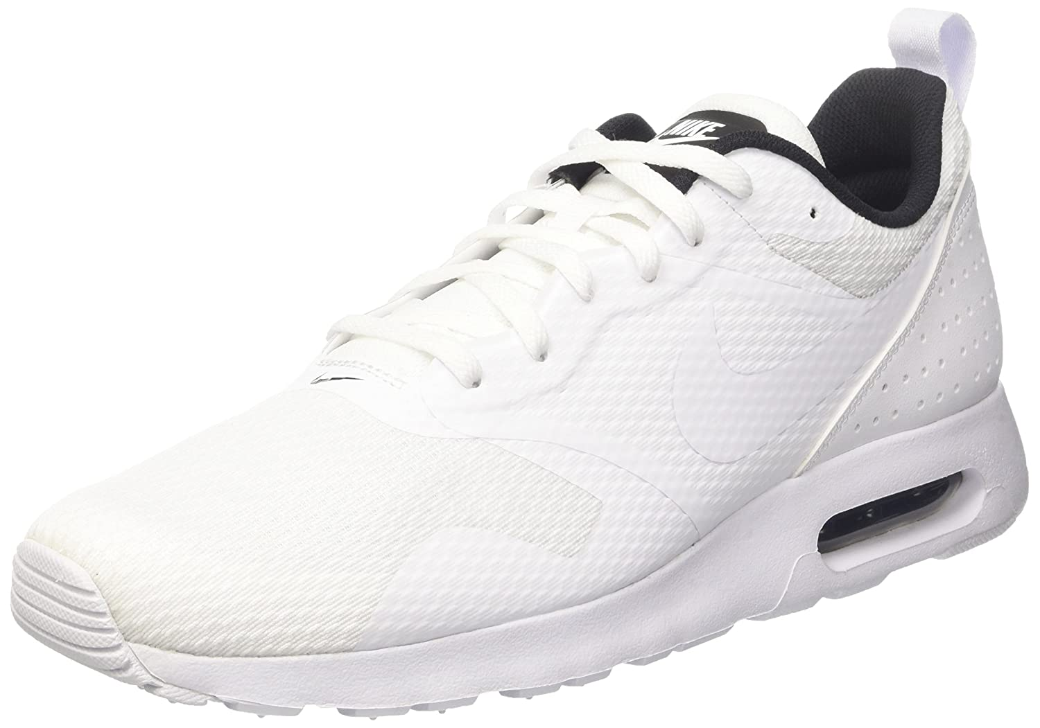 NIKE Men s Air Max Tavas White White Black Running Shoe 8 Men US