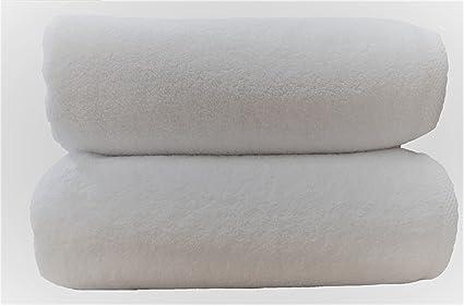 3 teli da bagno lusso 800 g mq colori bianco 76 x 142 cm 100% cotone