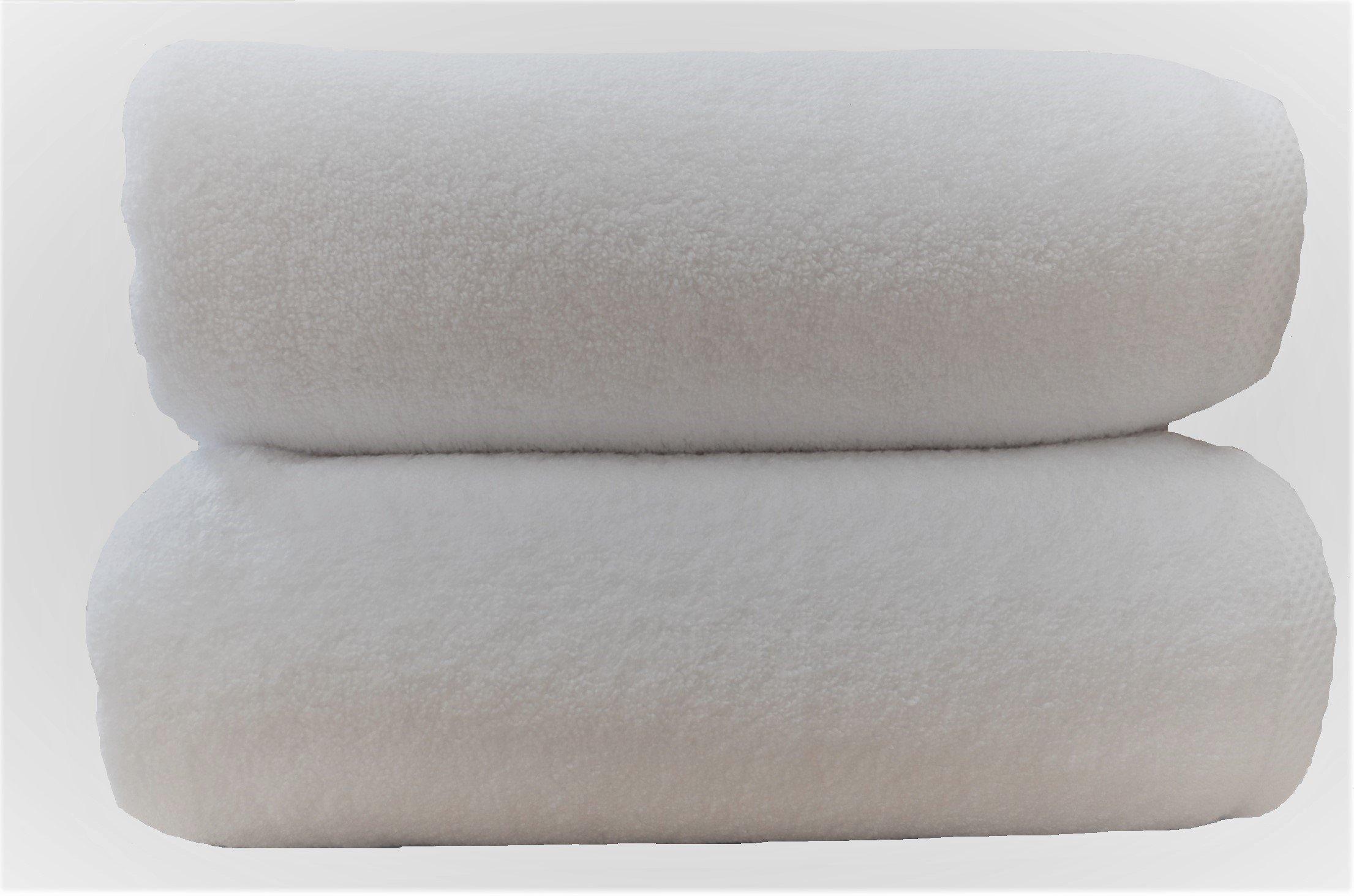3 toallas de baño de lujo, 660 g/m2, 76x142 cm, 100