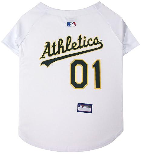 8eca915110d Amazon.com   Pets First MLB Oakland Athletics Dog Jersey