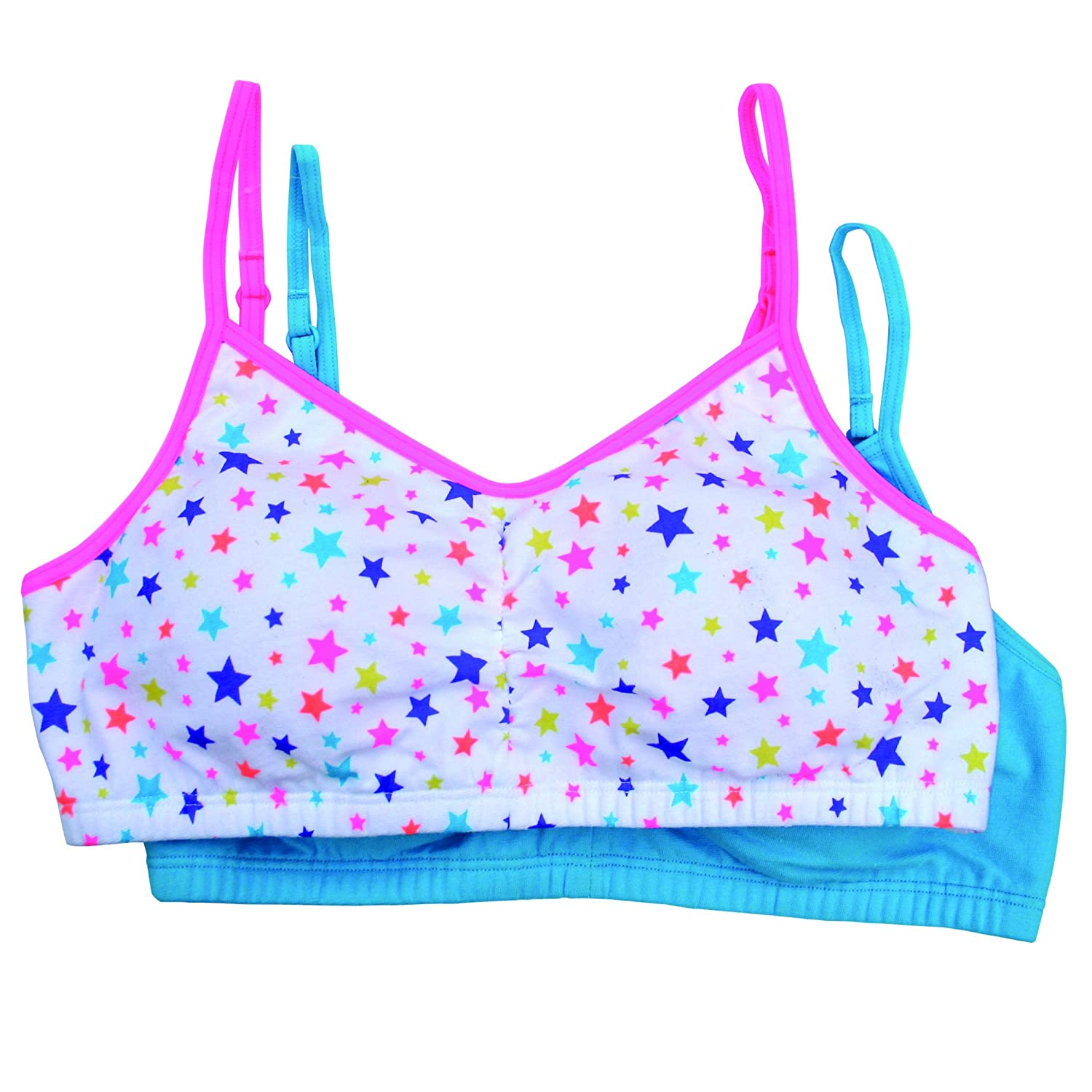 Fruit of the Loom Girls Big Girls Cotton Bralette ()(Pack of 2) 94046