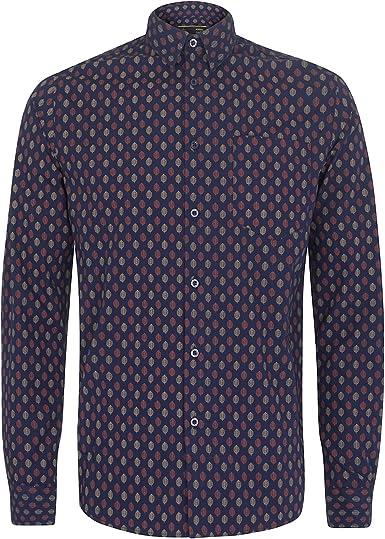 Merc Clothing Lloyd - Camisa (talla M), color azul marino: Amazon.es: Ropa y accesorios