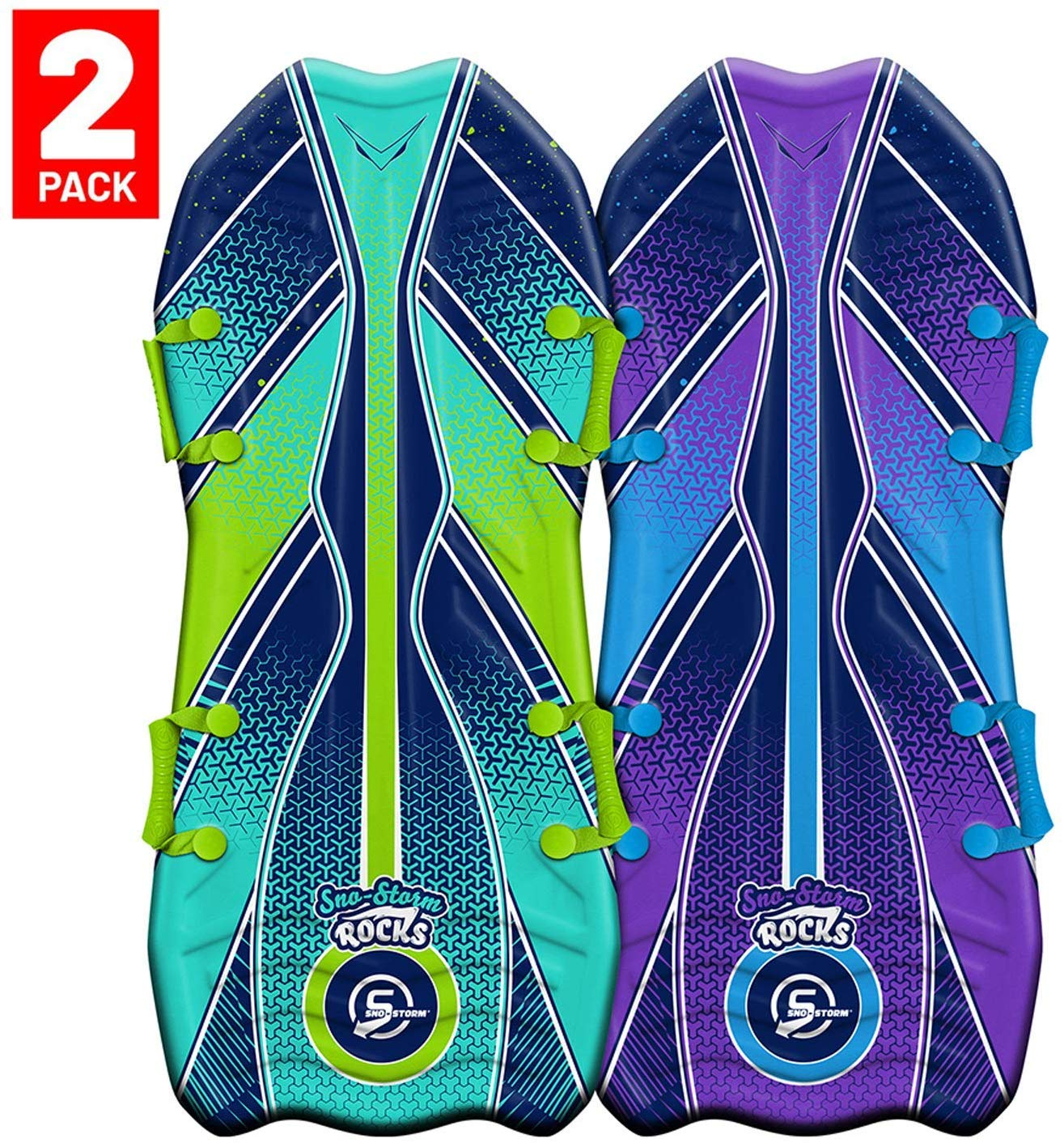 Sno-Storm 45 Stylus Winter Snow Sled 2-Pack