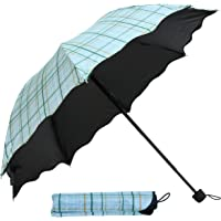 TIED RIBBONS Unisex Designer 3 Fold Umbrella Windproof with Cover for Rain, Sun & UV Rays Protection