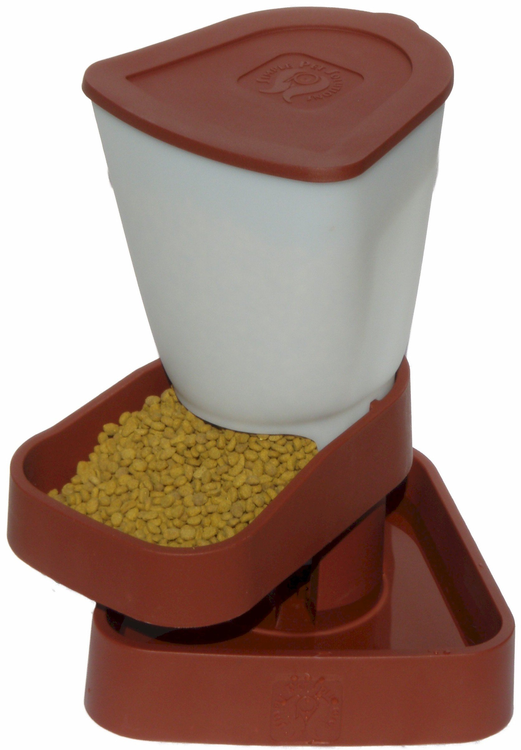 Farm Innovators Simple Pet Feeding Friend Auto Feeder/Waterer - Model 20081-T, Small, Terra Cotta