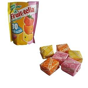 Fruitella Summer Fruits   Fruitella Candy   Fruittella Candy   Mix of Fruittella Strawberry, Lemon, and Orange   Fruitella Sweets   Bag of 4.23 Ounce  