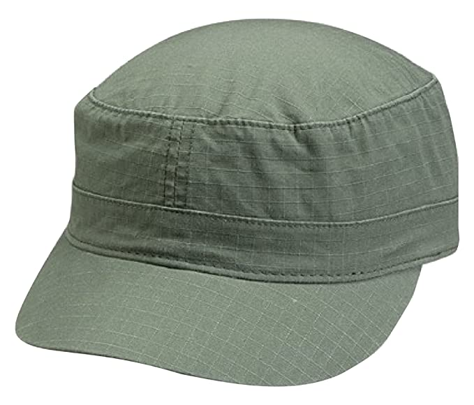 57e4c15f Image Unavailable. Image not available for. Color: Cameo Cotton Ripstop  Fitted Army Cap ...
