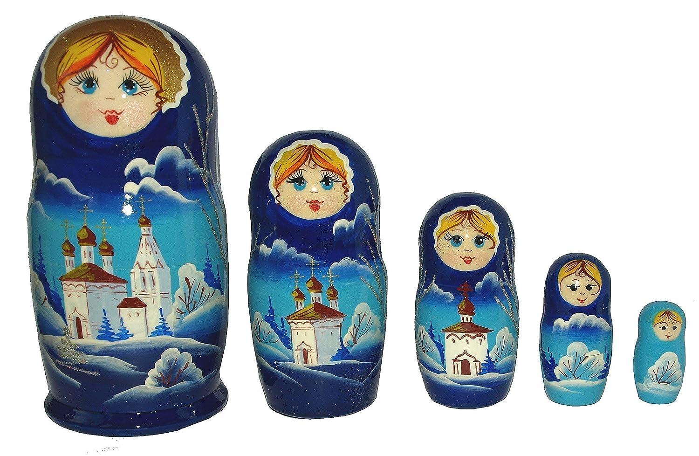 Amazon.com: Unique Wooden Nesting Dolls - Christmas Russian-made ...