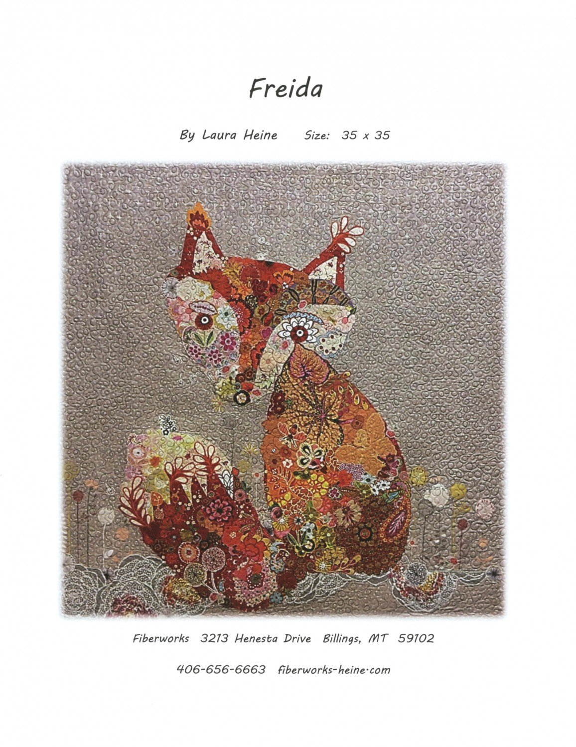 Fiberworks Freida Fox Collage Wall Hanging Quilt Pattern by