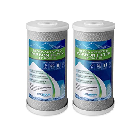 12-PK Carbon Block Big Blue 10 x 4.5 Whole House Charcoal Water Filter 5 Micron Water Purification
