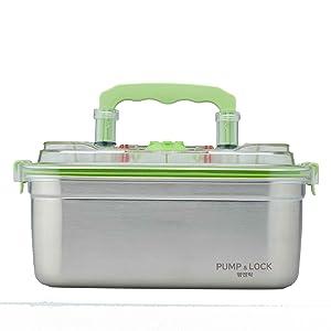 PumpnLock instant marinator vacuum stainless-steel container 3.7L