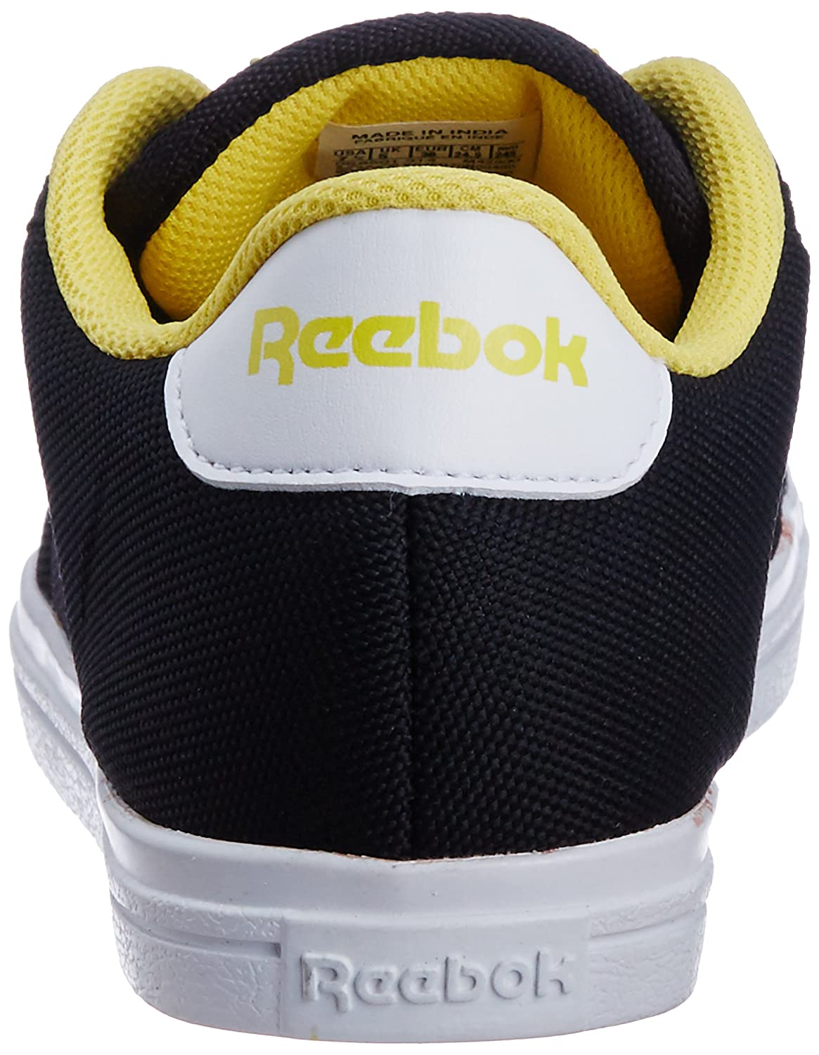 4a09afc6550f Reebok Classics Women s ON Court III LP Black and Yellow Canvas Sneakers -  7 UK  Buy Online at Low Prices in India - Amazon.in