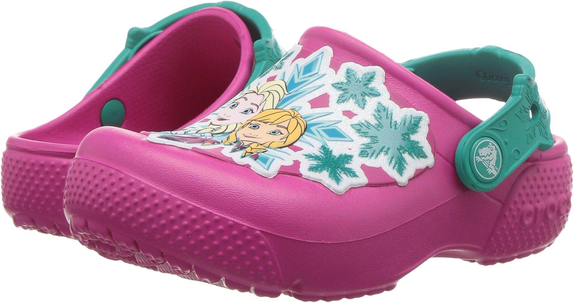 Crocs Girls' Fun Lab Frozen K Clog, Candy Pink, 8 M US Toddler
