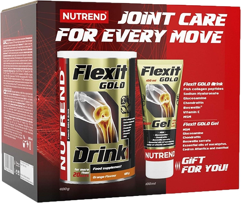 Nutrend FLEXIT Gold-Drink 400g Orange + Free FLEXIT Gel Collagen