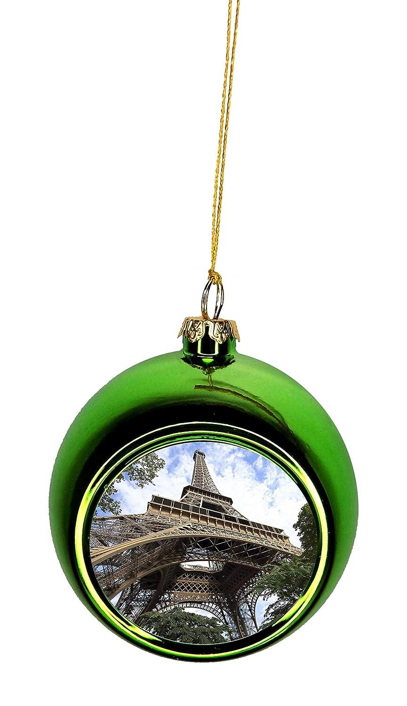 Paris Christmas Ornament.Amazon Com Eiffel Tower In The Clouds Paris France Bauble