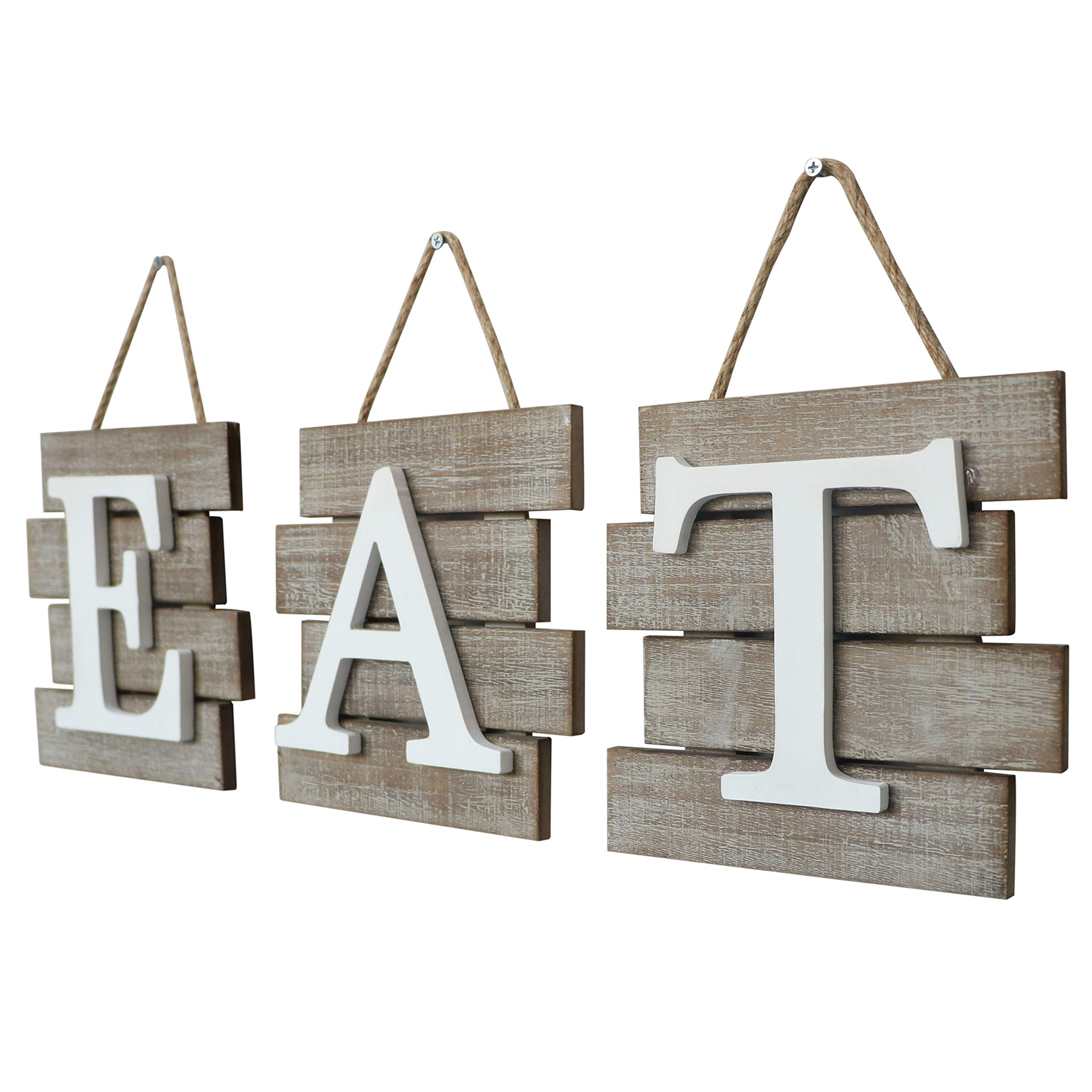 """Barnyard Designs Eat Sign Wall Decor for Kitchen and Home, Distressed Natural, Rustic Farmhouse Country Decorative Wall Art 24'' x 8"""" by Barnyard Designs (Image #5)"""
