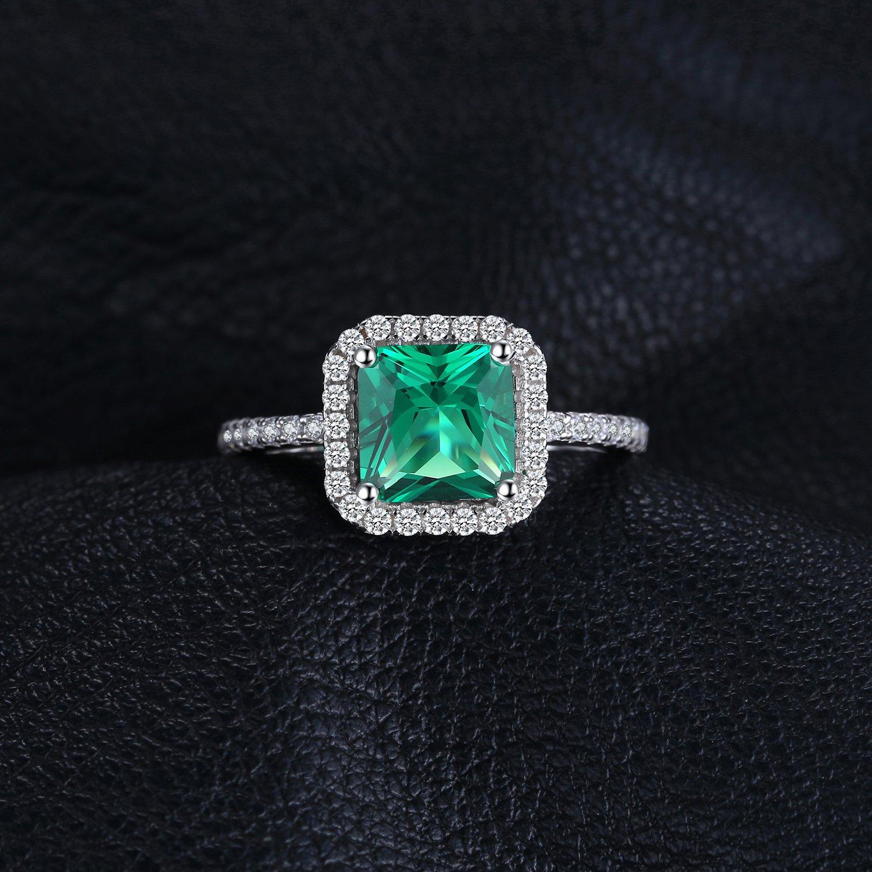 1 Karat Prinzessin Halo Ring Top Russische Qualität Cz Sterlingsilber 11