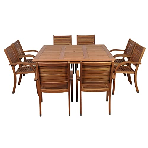 outdoor dining sets for 8 outside table amazonia arizona 9piece eucalyptus square dining set outdoor sets for 8 amazoncom