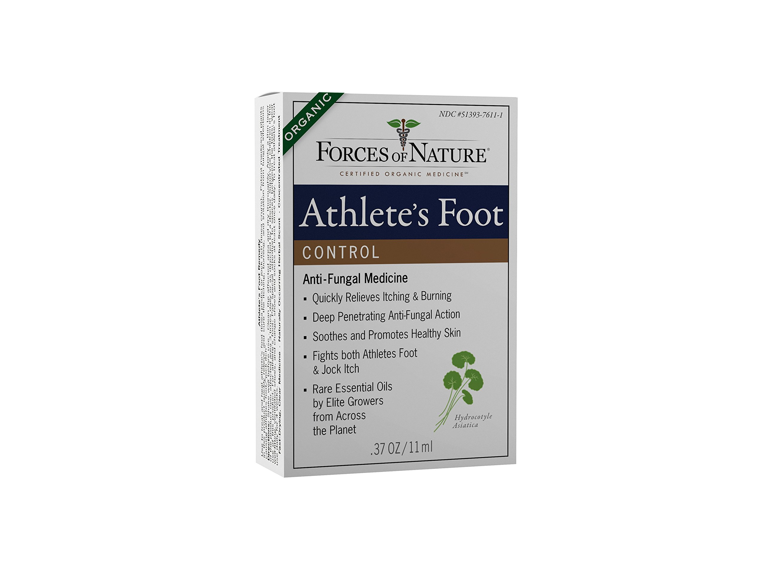 Forces of Nature | Athlete's Foot Control | Certified Organic | FDA-registered | Pharmaceutical Strength | 11ml (Pack of 1)