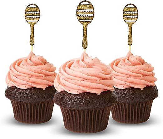 pink kitchen decorating ideas.htm amazon com maraca cupcake topper 12 pieces per pack cupcake  amazon com maraca cupcake topper 12
