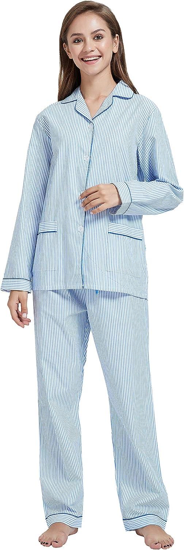 1950s Sleepwear, Loungewear History and Shopping Guide GLOBAL Womens Pajamas Set 100% Cotton 2-Piece Drawstring Sleepwear  AT vintagedancer.com